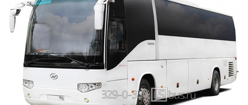 Заказ автобуса: виды автобусов и услуг